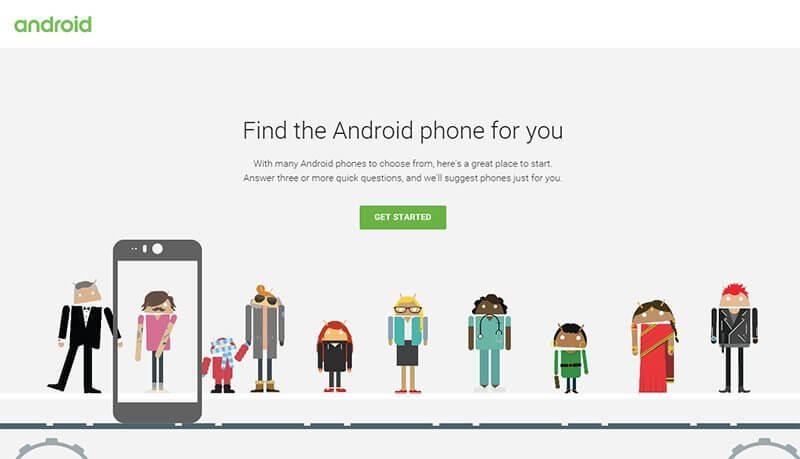 encontrar seu android - Google lança site para ajudar a escolher seu smartphone Android