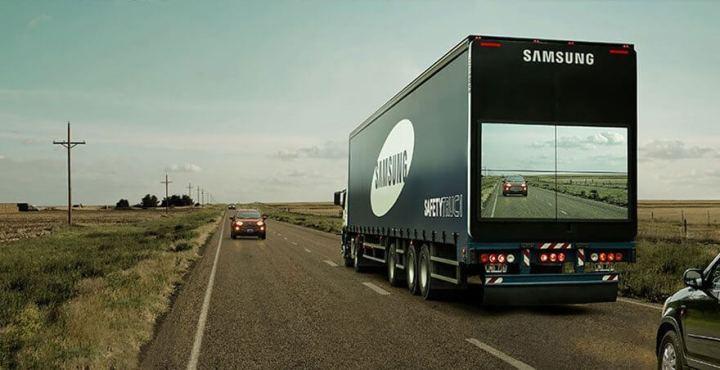 samsung safety truck p 720x370 - Samsung testa caminhões transparentes pela segurança nas estradas