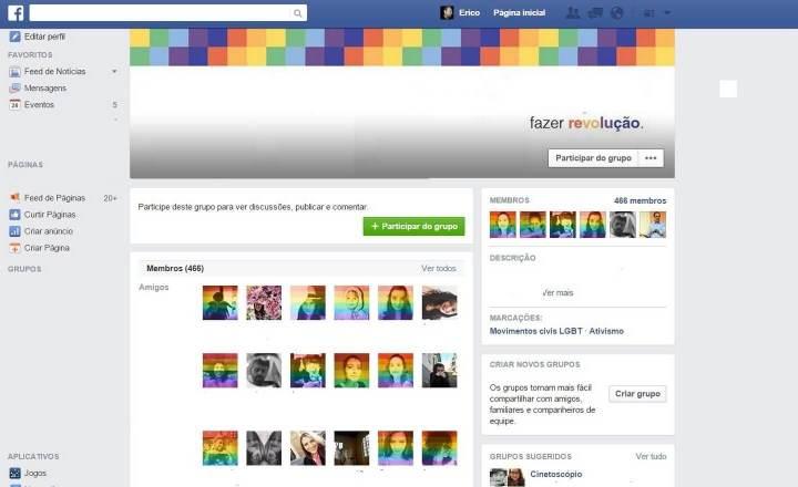 Facebook fica colorido após EUA aprovar o casamento entre pessoas do mesmo sexo 4