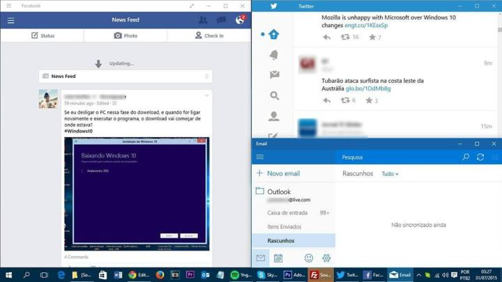 Apps Modernos, Windows 10