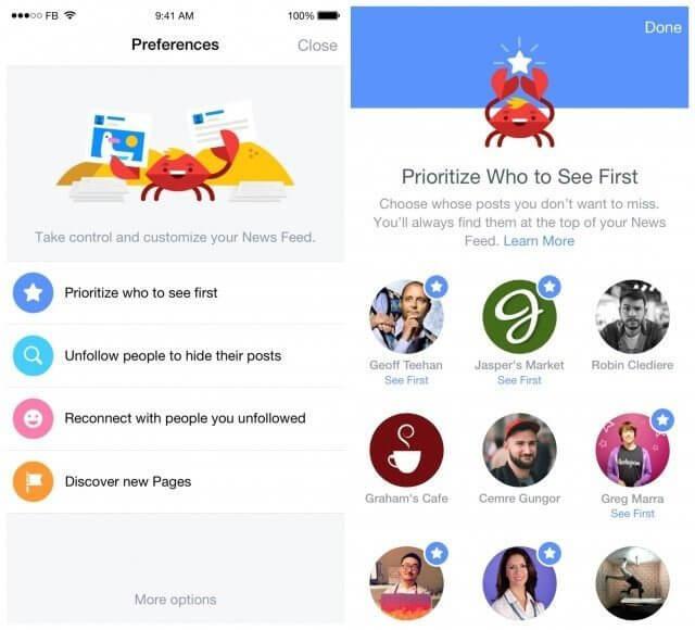 newsfeed prefrences 640x580 - Facebook permitirá maior controle do seu feed de notícias