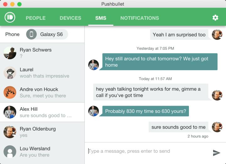 sms pushbullet 720x523 - Pushbullet recebe atualizações com diversas novidades