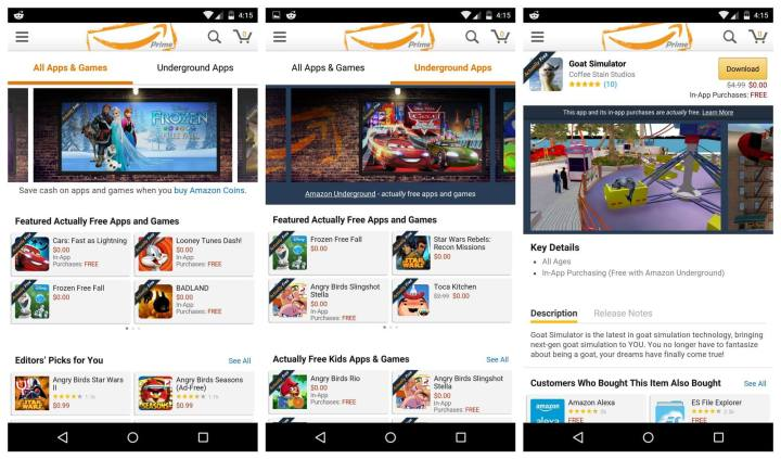 Amazon-Underground-app-screenshots