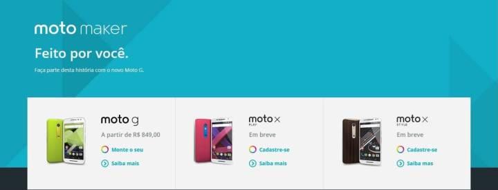 Moto X Style e Play como em breve no Motomaker