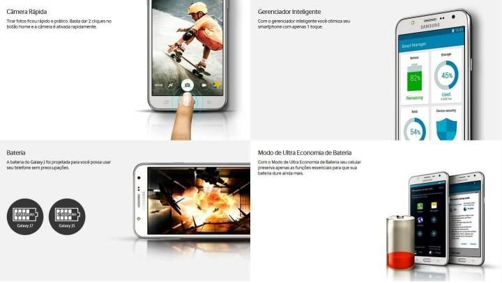 smt galaxyj recursos 720x407 - Samsung Galaxy J: Conheça a nova linha de smartphones que chega ao Brasil