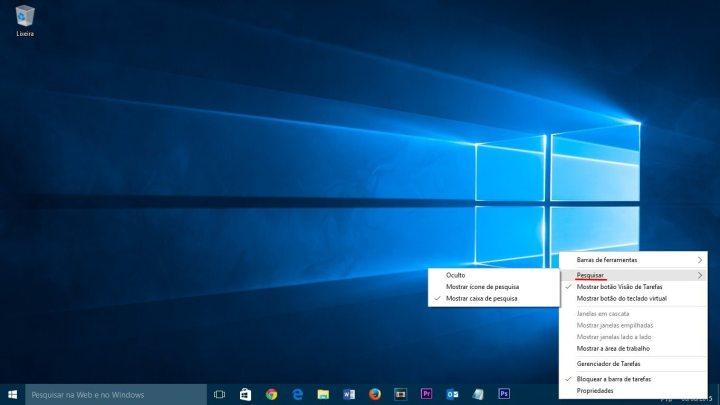 tutorial windows 10 ocultar caixaide pesquisa smt julian 720x405 - Tutorial: Como ocultar a barra de pesquisa e desativar resultados online no Windows 10