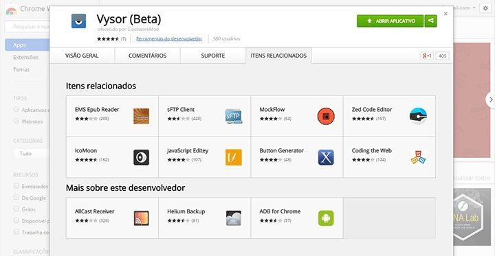 vysor beta chrome web store 720x373 - Esse incrível app permite controlar seu Android pelo PC