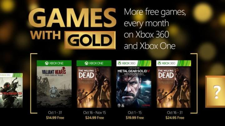 2941982 october 720x404 - Games with Gold: Outubro 2015