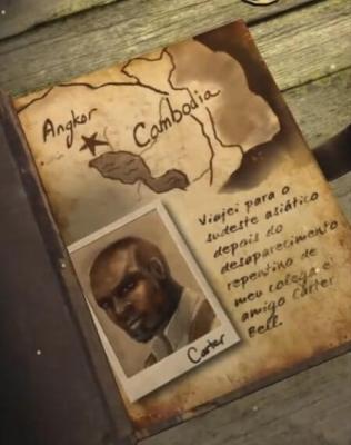 Carter Bell é o amigo desaparecido de Lara Croft em Relic Run.