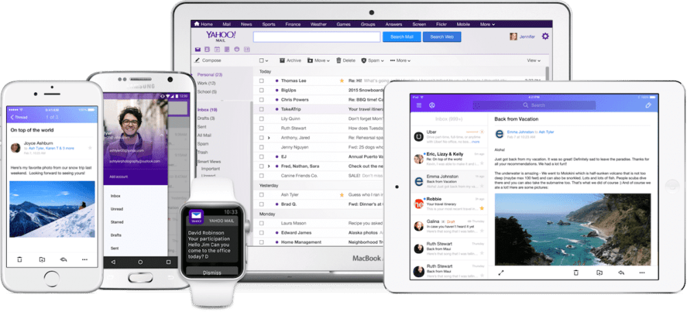 multiple mailboxes all devices - Yahoo Mail dispensa senhas e ganha redesign