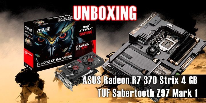 unboxing asus sabertooth z97 mark 1 e asus radeon r7 370 4gb strix 720x360 - Unboxing Gamer: Asus Radeon R7 370 Strix 4 GB e TUF Sabertooth Z97 Mark 1