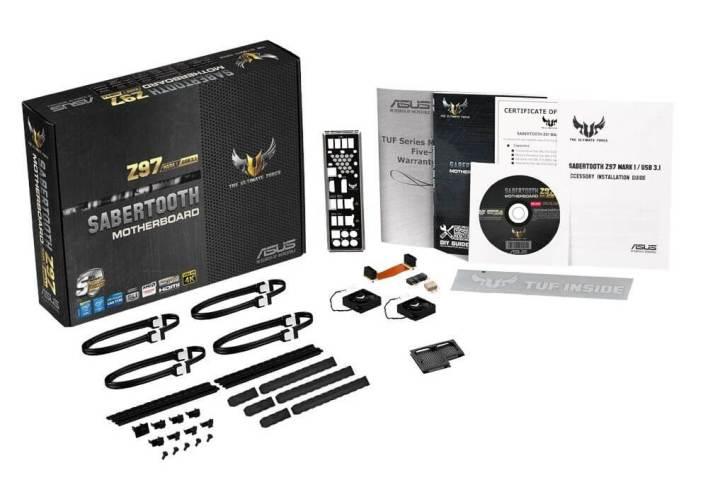 o que vem na caixa 720x492 - Análise: placa mãe ASUS Sabertooth Z97 Mark 1