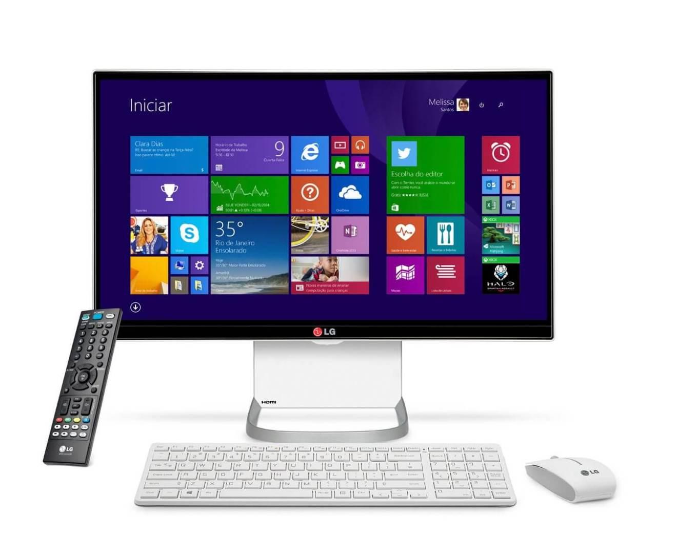 all in one 27v750 lg computador - Dica: boas escolhas da LG para o natal