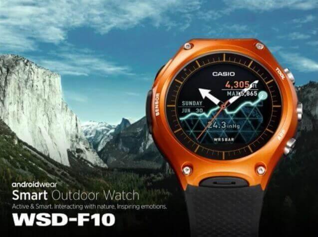 casio smart outdoor watch wsd f10 - CES 2016: Casio lança Smartwatch para atividades ao ar livre