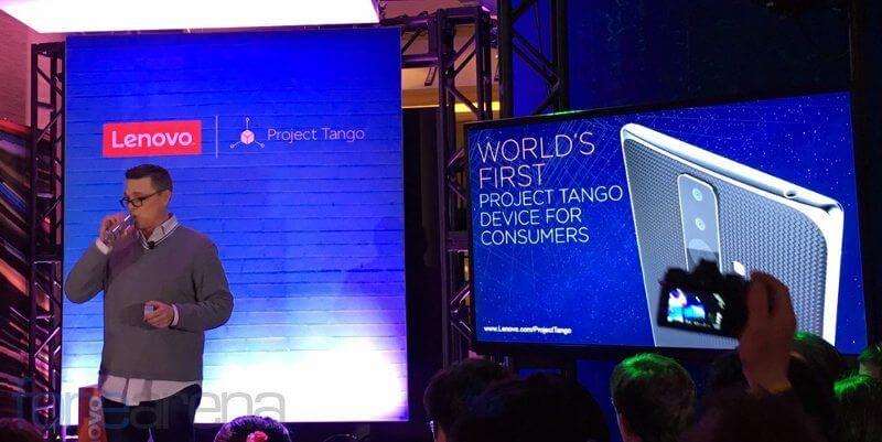 lenovo project tango event - CES 2016: Lenovo está construindo o primeiro telefone com o Project Tango do Google