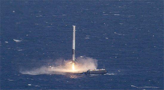010130160411 pouso foguete falcon9 - Hotel no espaço será testado
