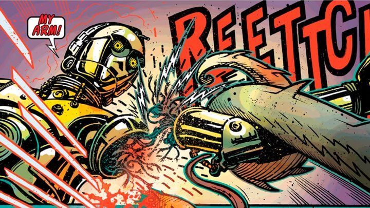 """c3po perdendo o braco 720x405 - Revelado o segredo do braço vermelho de C-3PO em """"Star Wars: O Despertar da Força"""""""