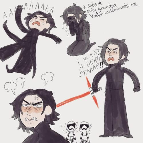 emo kylo ren - Tudo que já sabemos sobre Star Wars: Episódio VIII