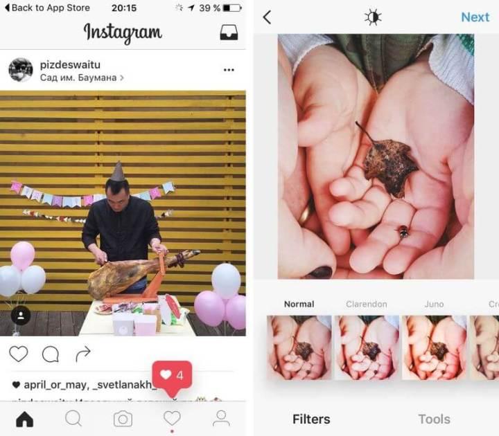 instagram black and white design 7 720x630 - Instagram testa novo visual preto e branco
