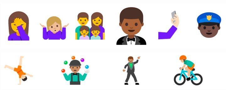 novos emojis selfie - Android N ganha emoji de selfie e atalhos na tela inicial