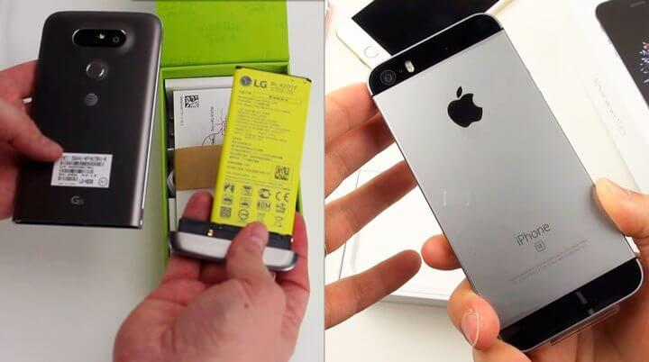 unboxing iphone lg g5 720x402 - Confira o vídeo unboxing dos novos LG G5 e iPhone SE