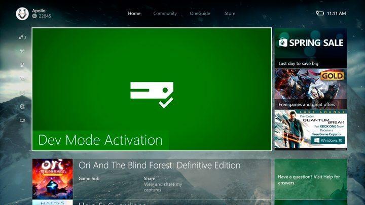 xbox dev mode 720x405 - A Microsoft quer dominar o mercado de jogos e está no caminho certo