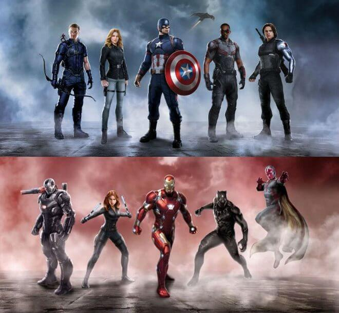civilwar teams - Capitão América: Guerra Civil tem referência espetacular de Star Wars