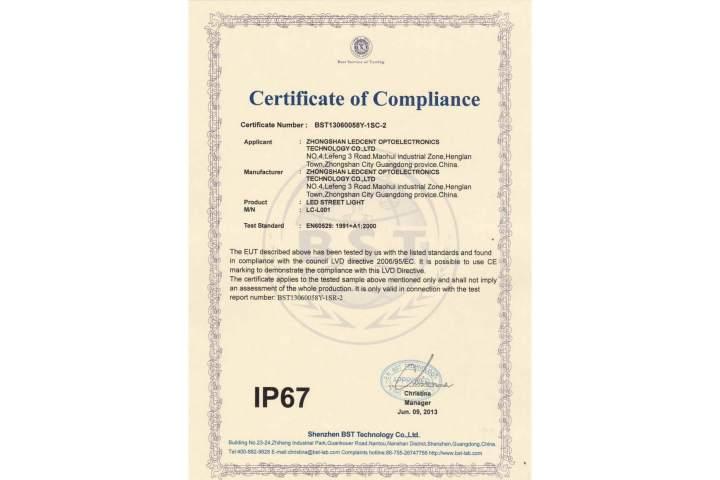 IP-67-certificate