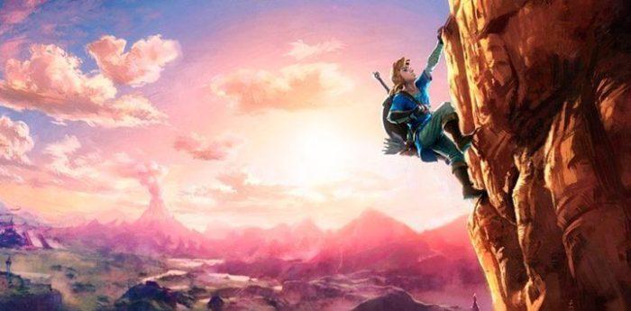 Link agora escala montanhas