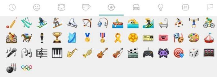 emoji de anéis olímpicos WhatsApp Web