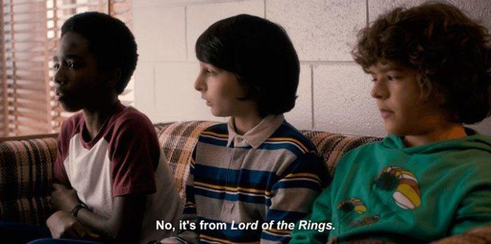 """hobbit LOTR referencia 720x359 - As 5 melhores referências que encontramos em """"Stranger Things"""""""