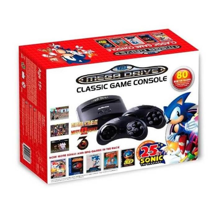Mega Drive com 80 jogos