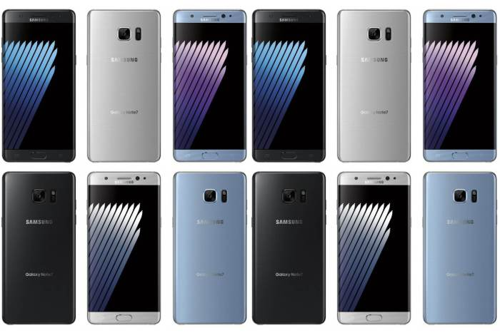 As cores do Galaxy Note7