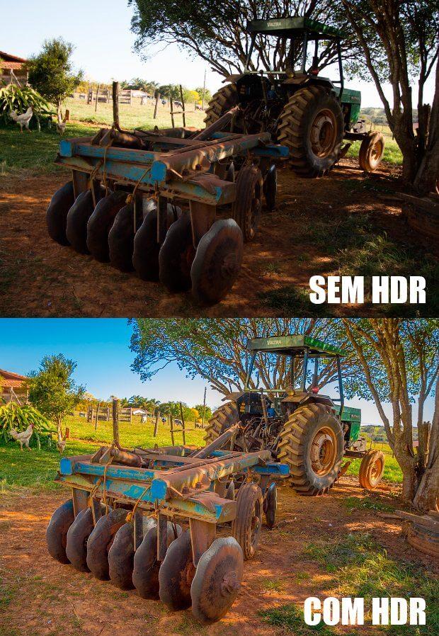 Foto com e sem HDR