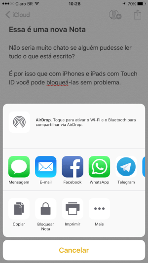 IMG 0783 - Tutorial: Como bloquear uma nota no iPhone ou iPad