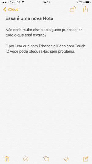 Tutorial: Como bloquear uma nota no iPhone ou iPad