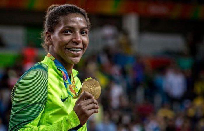 Rafaela Silva, Ouro para o Brasil (Foto: Marcio Rodrigues/MPIX/CBJ)