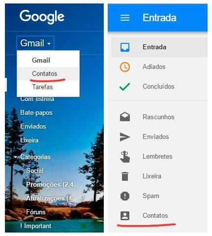 inbox e gmail contatos google smt julian - Tutorial: como importar e exportar contatos do Gmail e Outlook