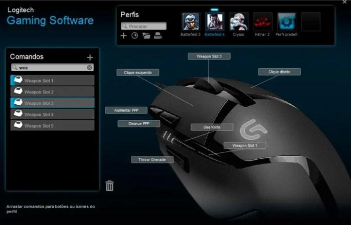 programar botões do mouse