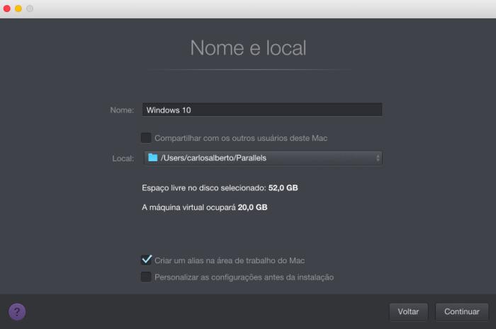 09. parallels 12 nova vm nome 720x478 - Tenha o Windows sempre à mão no macOS com o Parallels Desktop