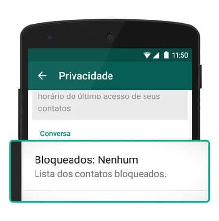 como bloquear contatos do WhatsApp no Android