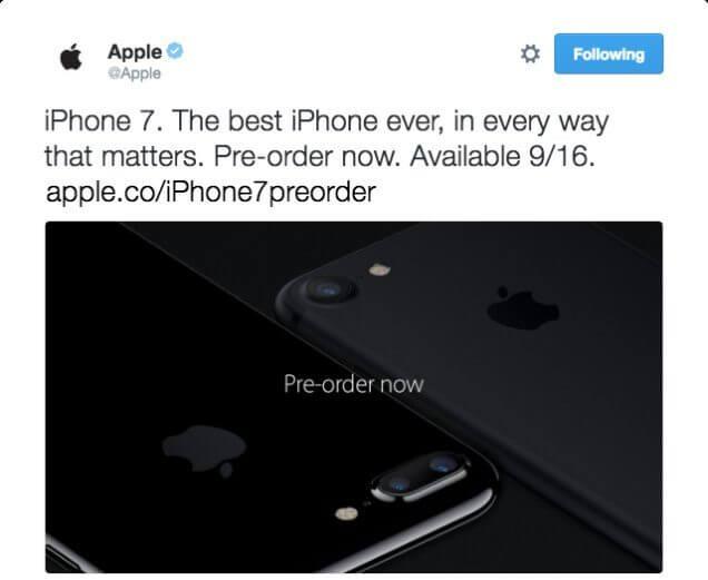 id192163 1 - Que vacilo! Apple vaza iPhone 7 no Twitter minutos antes do lançamento