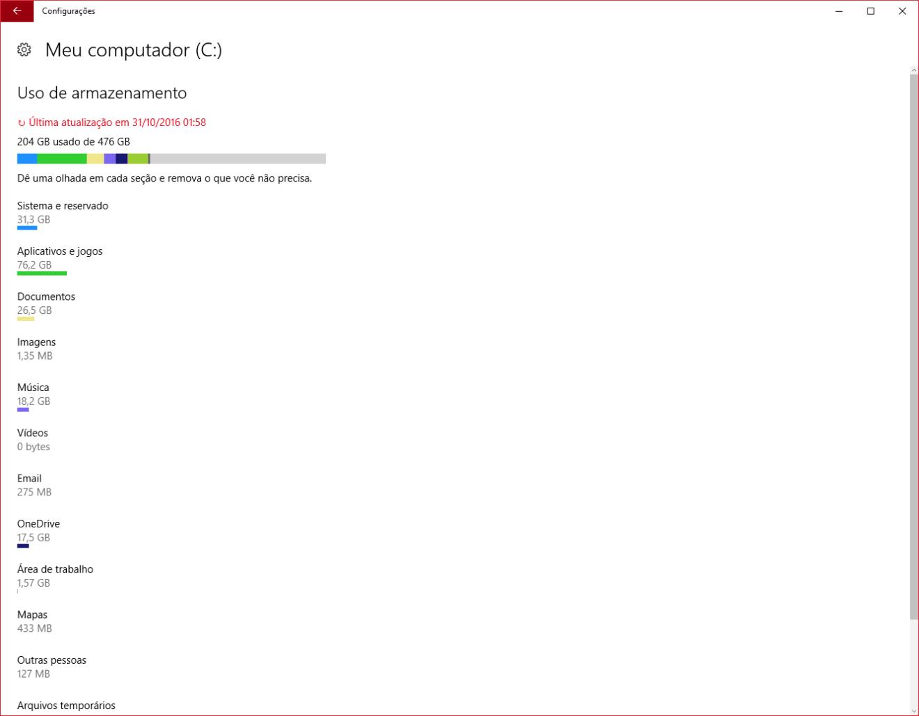Capturar 3 - Dica: ganhe mais espaço no Windows 10