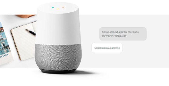 Google Home traduzindo falas