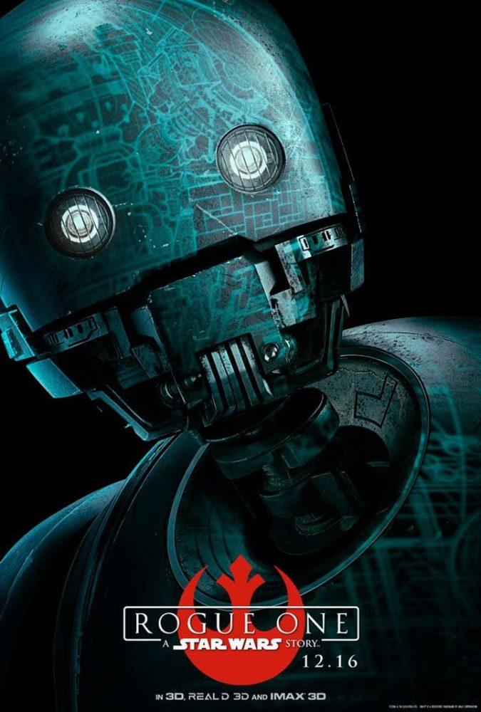 """K 2SO 675x1000 - Personagens de """"Rogue One: Uma História Star Wars"""" ganham pôsteres"""