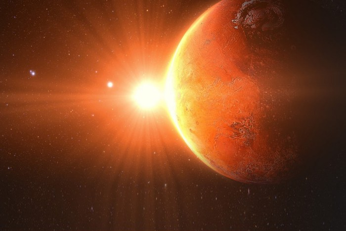 Schiaparelli - sonda espacial se aproxima da superfície de Marte