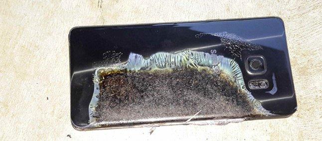 A região danificada, isolada na bateria.