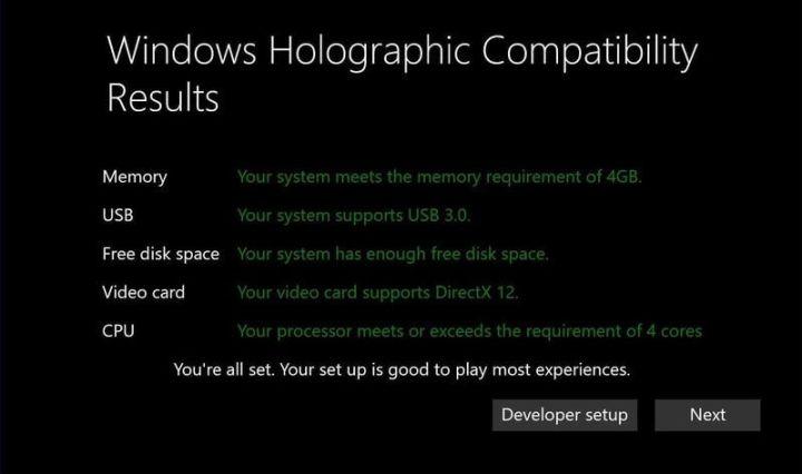 holographic 720x426 - Microsoft libera configuração mínima para rodar apps Realidade Virtual no Windows 10