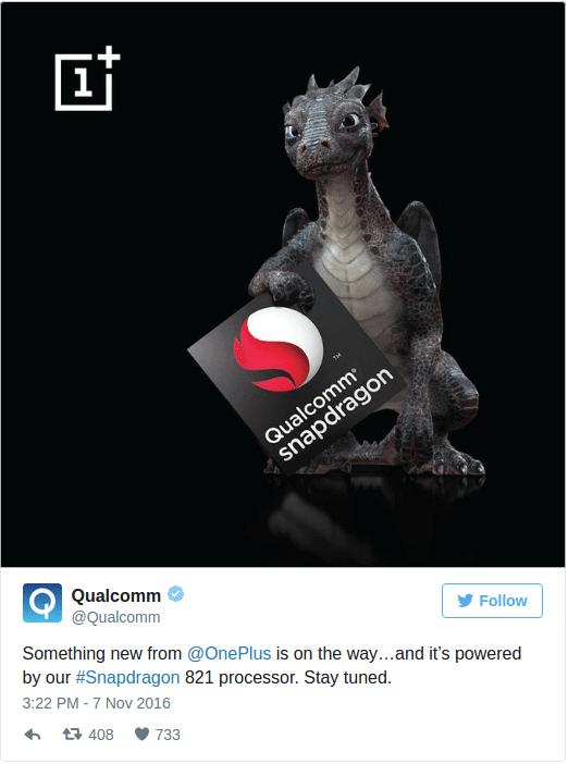 qualcomm - OnePlus lançará versão turbinada do OnePlus 3 no dia 15 de novembro