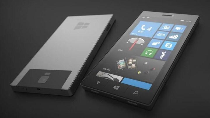 """Imagem conceito do """"Surface Phone"""""""